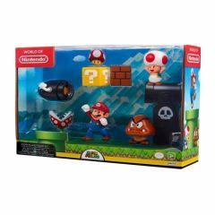 Pack de 5 figurines Mario Diorama