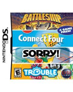 Jeu 4 Game Pack! - Battleship + Connect Four + Sorry! + Trouble pour Nintendo DS