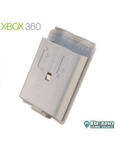 Cache pile Blanc pour manette Xbox 360