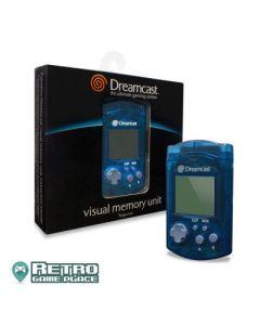 Jeu Carte mémoire Visual Memory bleue pour Dreamcast pour
