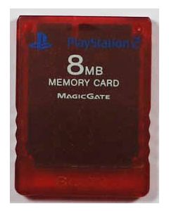 Carte mémoire officielle Rouge Playstation 2 - 8mo