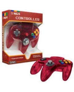 Manette Nintendo 64 Rouge translucide