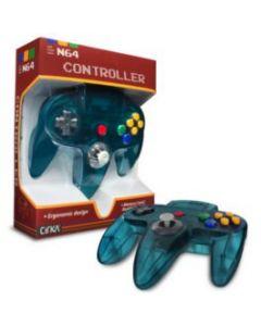 Manette Nintendo 64 Turquoise translucide