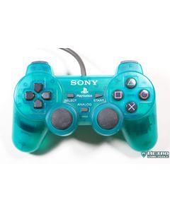 Manette PS2 verte translucide