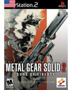 Jeu Metal Gear Solid 2 - Sons of Liberty (Version US) pour Playstation 2 US