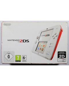 Nintendo 2DS blanche et rouge en boîte