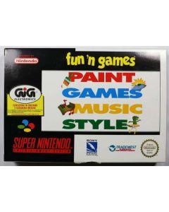 Jeu Paint Games Music Style pour Super Nintendo