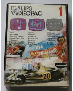 Jeu Videopac 01 Race - Spin-out - Cryptogram pour Philipps Videopac
