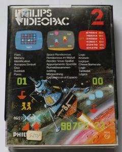 Jeu Videopac 02 Pairs - Space rendez-vous - Logic pour Philipps Videopac
