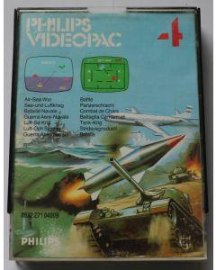 Jeu Videopac 04 Combat de chars pour Philipps Videopac