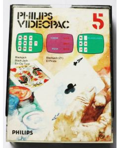 Jeu Videopac 05 Blackjack pour Philipps Videopac
