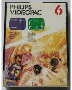 Jeu Videopac 06 Bowling - Basketball pour Philipps Videopac