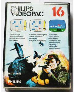 Jeu Videopac 16 Bataille Sous marine - Tir sur Cible pour Philipps Videopac