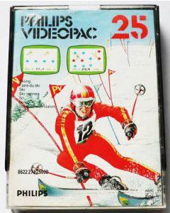 Jeu Videopac 25 Ski pour Philipps Videopac