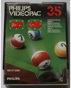 Jeu Videopac 35 Billard pour Philipps Videopac