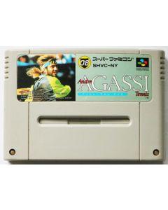 Jeu Andre Agassi Tennis pour Super Famicom (JAP)