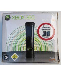 Console Xbox 360 Elite Noire en boîte