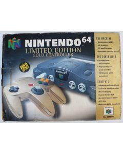 Console Nintendo 64 en boîte Gold Controller Edition